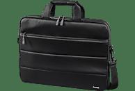 HAMA Toronto Notebooktasche Umhängetasche für Universal Nylon, Schwarz