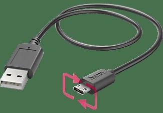 HAMA Micro-USB, Ladekabel, 1,4 m, Schwarz