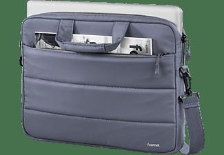 HAMA Toronto Notebooktasche Umhängetasche für Universal Nylon, Blau/Grau