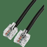 HAMA Modular-Stecker 8p4c - Modular-Stecker 6p4c, DSL-Anschlusskabel, 10 m