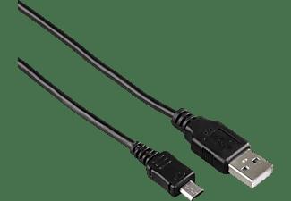 HAMA Micro-USB, Datenkabel/Ladekabel, 1 m, Schwarz