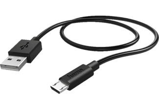HAMA Micro-USB, Kabel, 0,6 m, Schwarz