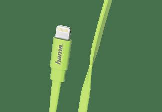 HAMA Flat Lightning, Lade-Sync-Kabel, 1,2 m, Grün