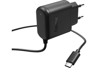 HAMA USB Typ-C Ladegerät Universal, 5 Volt, 3000 mAh 15 Watt, Schwarz