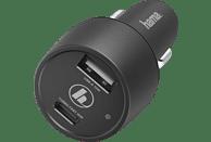 HAMA USB-C, Power Delivery (PD)/Qualcomm KFZ-Ladegerät Universal, Schwarz