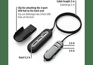 HAMA 2+3 Power Extension USB-KFZ-Ladegerät