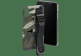 HAMA Camouflage Strap, Backcover, Apple, iPhone X/Xs, Grün/Schwarz