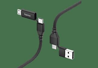 HAMA 4in1 Typ-C, Kabel, 1,5 m, Schwarz