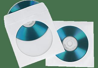 HAMA CD-/DVD Papier-Schutzhüllen Weiß