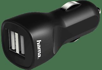 HAMA 2-fach USB Kfz-Ladegerät Universal, 5 Volt, 2400 mAh, Schwarz