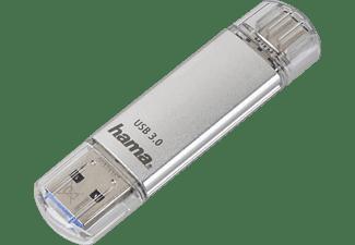 HAMA C-Laeta USB-Stick, 64 GB, 40 MB/s, Silber