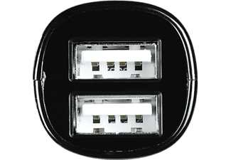 HAMA 2-fach USB Kfz-Ladegerät Universal, 5 Volt, 4800 mAh, Schwarz