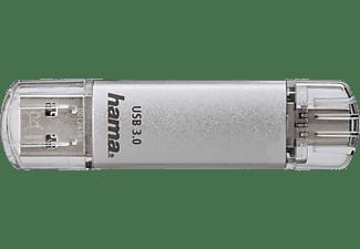 HAMA C-Laeta USB-Stick, 16 GB, 40 MB/s, Silber