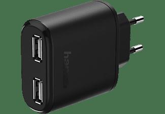 HAMA 2-fach USB Ladegerät Universal, 5 Volt, 4800 mAh, Schwarz