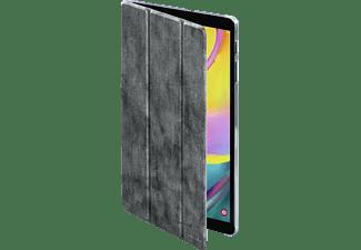 HAMA Used-Look Tablethülle Bookcover für Samsung Polyurethan, Silber-Schwarz