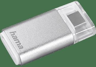 HAMA USB-3.1-Typ-C-OTG, Kartenleser, Silber, passend für microsd-Speicherkarten