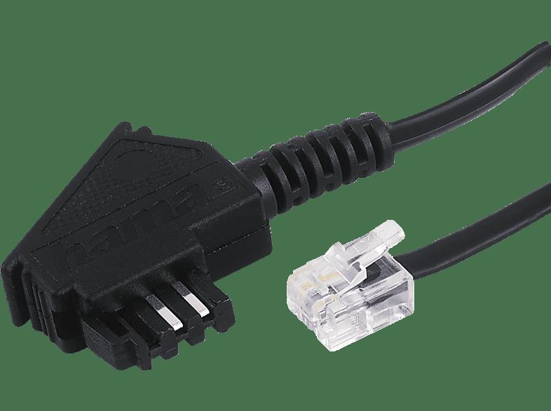 HAMA TAE-F-Stecker auf Modular-Stecker 6p4c, Telefonkabel, 3 m