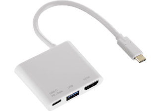 HAMA 3in1 USB-C-Multiport, Kabeladapter