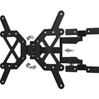 HAMA FULLMOTION Ultraslim superflache und vollbewegliche Wandhalterung, max. 65 Zoll, Neigbar, Schwenkbar, Schwarz