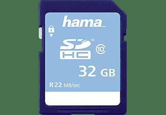 HAMA Class 10, SDHC Speicherkarte, 32 GB, 22 MB/s