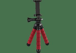 HAMA Flex Dreibein Mini-Stativ, Rot, Höhe offen bis 140 mm
