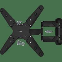 HAMA FULLMOTION, 3 Sterne Wandhalterung, max. 56 Zoll, Neigbar, Schwenkbar, rotierbar, Schwarz