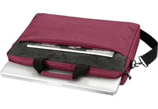 HAMA Tayrona 15.6 Zoll Notebook-Umhängetasche für Universal Polyester, Polyurethan, Rot