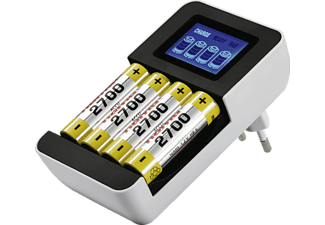 HAMA Delta LCD Premium Ladegerät, NiMH, Schwarz