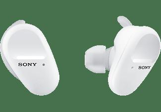SONY WF-SP800N, Earbuds, Ladeetui, In-ear True-Wireless-Kopfhörer Bluetooth Weiß