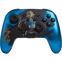 POWER A PowerA Enhanced Wireless Controller für Nintendo Switch - Satinblau verchromter Zelda Controller} Blau