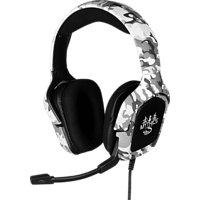 KONIX Universal Ares Camo, Over-ear Gaming Headset Weiß/Grau Camouflage