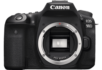 CANON EOS 90D Body Spiegelreflexkamera, 4K, Full-HD, HD, Touchscreen Display, WLAN, Schwarz