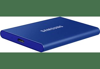 SAMSUNG Portable SSD T7, 2 TB SSD, extern, Indigo blue