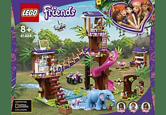 LEGO 41424 Tierrettungsstation im Dschungel Bausatz, Mehrfarbig