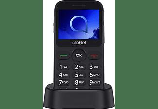 Móvil - Alcatel 2019G, 2.4 P, 2MP, Bluetooth, Radio FM, Linterna, SOS, Plata