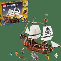 LEGO 31109 Creator 3-in-1 Bausatz - Piratenschiff, Taverne oder Totenkopfinsel Bausatz, Mehrfarbig