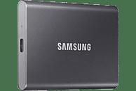 SAMSUNG Portable SSD T7 Festplatte, 500 GB SSD, extern, Titan grey