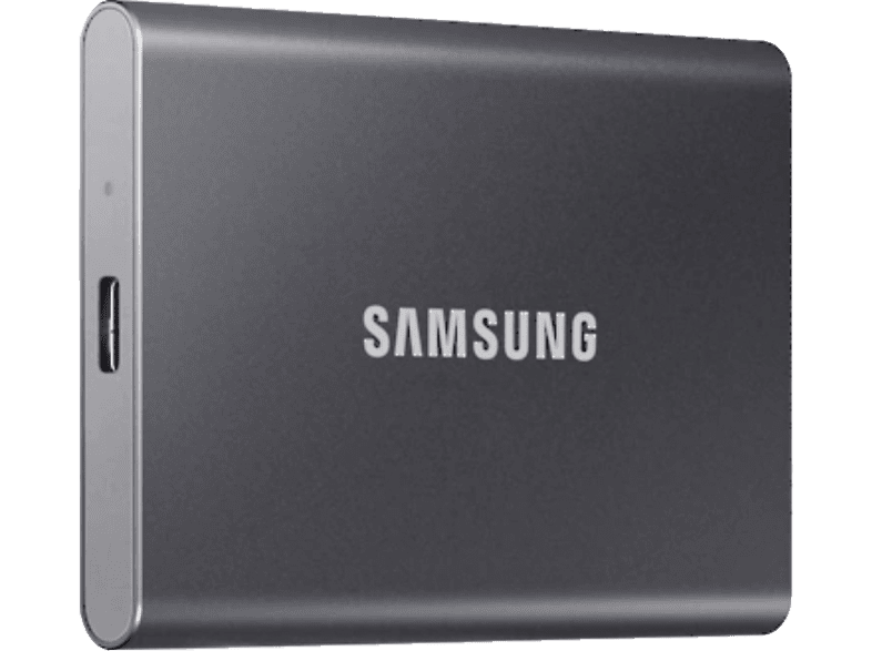 SAMSUNG Portable SSD T7 Festplatte, 1 TB SSD, extern, Titan grey