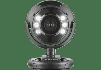 TRUST Webcam SpotLight Pro, 1.3 MP, Mikrofon, LED-Leuchten, schwarz (16428)