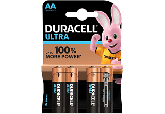 Pilas AA - Duracell Ultra Power, 1.5 V, Alcalino, 4 uds