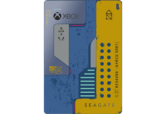 SEAGATE Game Drive für Xbox - Cyberpunk SE, 2 TB, Externe Festplatte, Blau/Gelb
