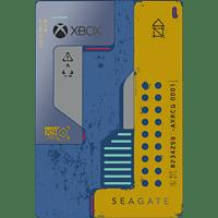 SEAGATE Game Drive für Xbox GamePass - Cyberpunk SE, 2 TB, Externe Festplatte, Blau/Gelb