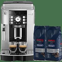 DE LONGHI Kaffeevollautomat ECAM 21.117SB, silber/schwarz + Kimbo Kaffee (Bohne)