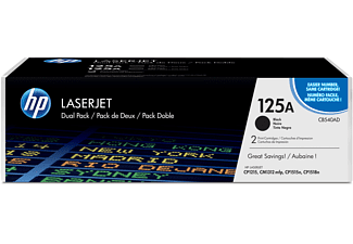 Tóner - HP 125A LaserJet, Combo 2 pack, Negro, CB540AD
