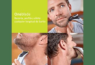 Afeitadora - Philips OneBlade Pro cara QP6520/20, Recorta, Perfila, Afeita, Peine guía 0.4 a 10 mm