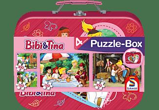 SCHMIDT SPIELE (UE) Box im Metallkoffer 2x100 Teile und 2x150 Teile Puzzle Mehrfarbig
