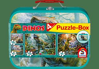 SCHMIDT SPIELE (UE) Box im Metallkoffer 2x60 und 2x100 Teile Puzzle Mehrfarbig