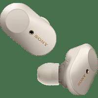 SONY WF-1000XM3, Earbuds, Ladeetui, In-ear Kopfhörer Bluetooth Silber