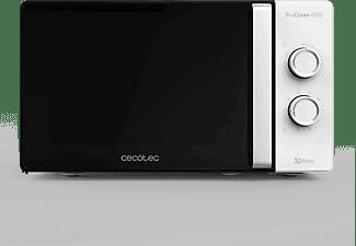 Microondas - Cecotec Proclean 4110, Con grill, 700 W, 20 L, 6 potencias, Descongela, Negro e inox