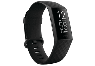 Pulsera de actividad - Fitbit Charge 4, Negro, 2.27 cm, Bluetooth